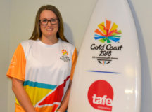 http://highlifemagazine.net - Toowoomba Athlete carrying Baton