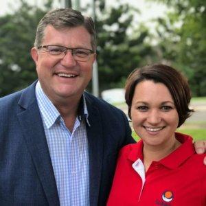 Trevor Watts MP & Carla Canning