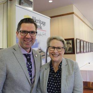Cr Geoff McDonald & Geraldine Mackenzie