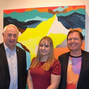 Cr Paul Antonio, Katie Wagner & Stephen Baxter