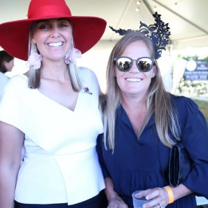 Moree Picnic Race Club President, Sally Glynn & Sarah Ball.