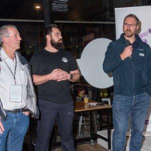 Dr Michael Lane, Adrian Cubit and Darren Mentor